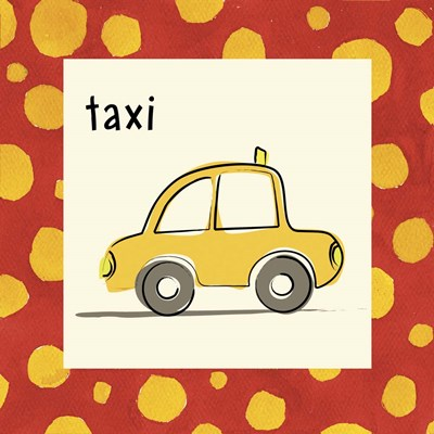 Taxi with Border art print by Esteban Studio for $35.00 CAD