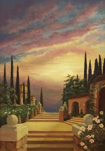 Patio Il Tramonto art print by Evie Cook for $42.50 CAD