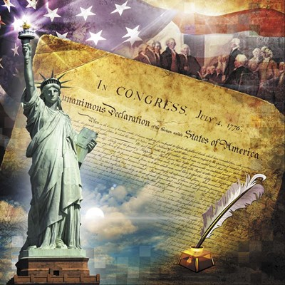Declaration of Independence art print by Evie Cook for $48.75 CAD