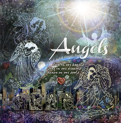 Angels art print by Evie Cook for $50.00 CAD