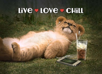 Live Love Chill art print by Evie Cook for $40.00 CAD