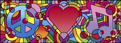 Peace Love Music A art print by Howie Green for $70.00 CAD