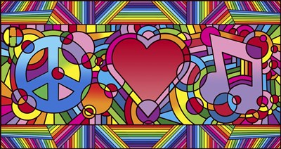 Peace Love Music B art print by Howie Green for $88.75 CAD
