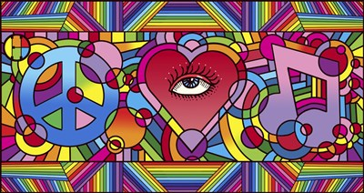 Peace Love Music C art print by Howie Green for $88.75 CAD