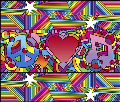 Peace Love Music D art print by Howie Green for $72.50 CAD
