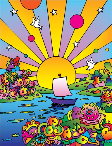 Cosmic Boat Color art print by Howie Green for $102.50 CAD