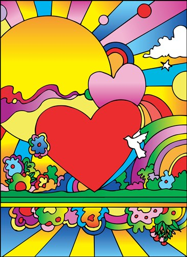 Cosmic Heart Landscape art print by Howie Green for $96.25 CAD