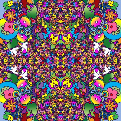 Flowers Kalidescope art print by Howie Green for $80.00 CAD