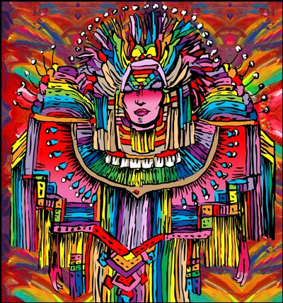 Mardigras Lady 1 art print by Howie Green for $83.75 CAD