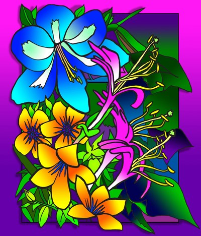 Kvilleflowers 8 art print by Howie Green for $51.25 CAD