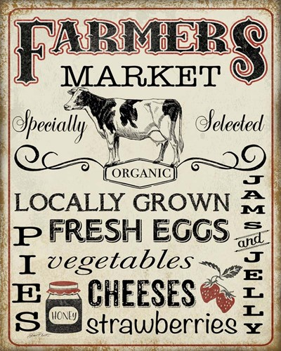Farmers Organic Market art print by Jean Plout for $56.25 CAD