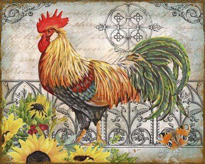 Ironwork Rooster A art print by Jean Plout for $56.25 CAD