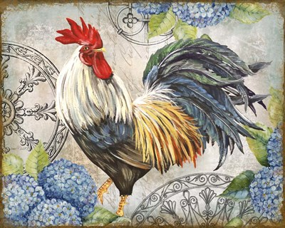 Ironwork Rooster D art print by Jean Plout for $56.25 CAD