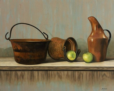 Rustic Cooking Pots art print by John Zaccheo for $36.25 CAD