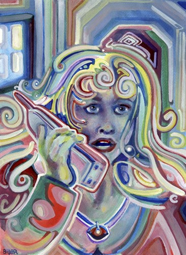 Gossiping on The Cordless Phone art print by Josh Byer for $55.00 CAD