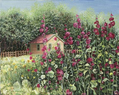 Sunlight on Hollyhocks art print by Kevin Dodds for $42.50 CAD