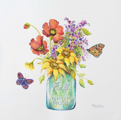 Butterfly Blossoms art print by Linda Arandas for $63.75 CAD