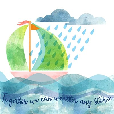 Weather Any Storm art print by Lisa Powell Braun for $41.25 CAD