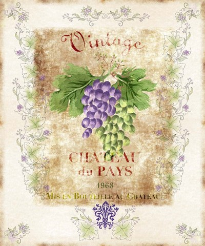 Vintage Wine Label art print by Lisa Powell Braun for $46.25 CAD