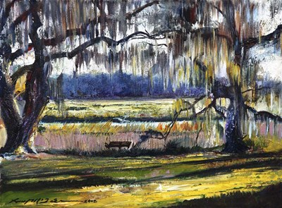 Lowcountry Spanish Moss Escape art print by Lucy P. McTier for $41.25 CAD