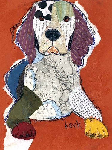 Beagle art print by Michel Keck for $58.75 CAD