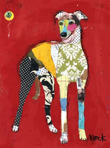 Greyhound art print by Michel Keck for $58.75 CAD