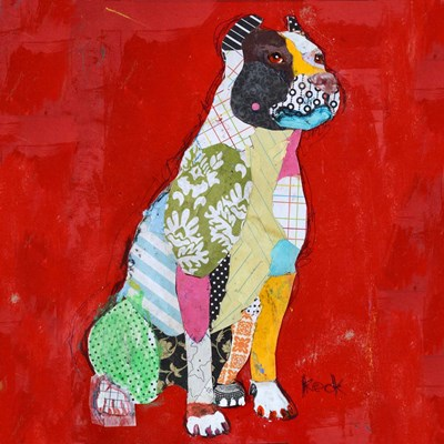 Red Pit Bull art print by Michel Keck for $63.75 CAD