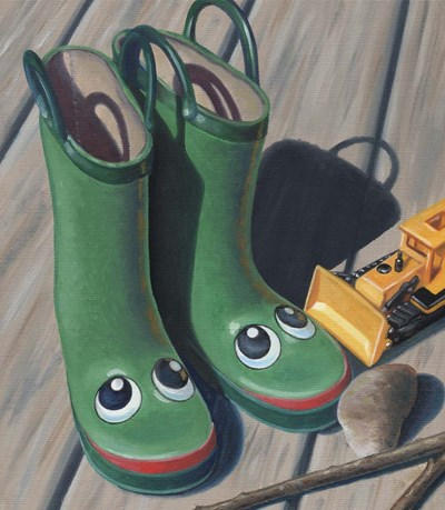 Apple Frog Boots art print by Michele Meissner for $61.25 CAD
