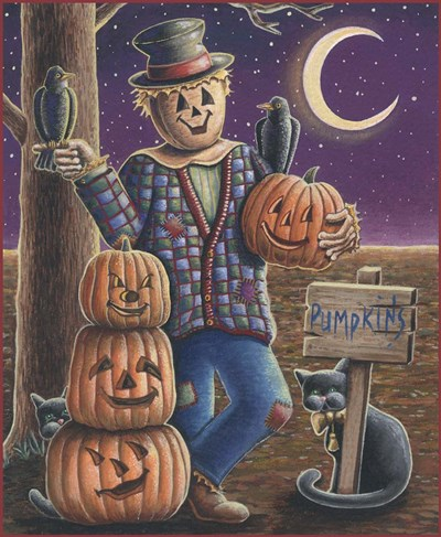 Apple Scarecrow art print by Michele Meissner for $63.75 CAD