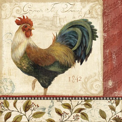 Majestic Rooster II art print by Daphne Brissonnet for $48.75 CAD