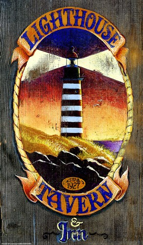 Lighthouse Tavern art print by Red Horse Signs for $31.25 CAD