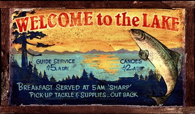 Lake art print by Red Horse Signs for $57.50 CAD