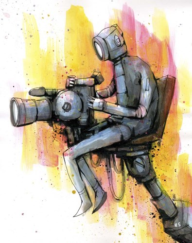 Cinematographer art print by Ric Stultz for $56.25 CAD