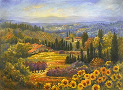 Tuscan Countryside art print by Rosanne Kaloustian for $66.25 CAD