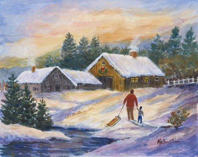 After the Sleigh Ride art print by Rosanne Kaloustian for $70.00 CAD