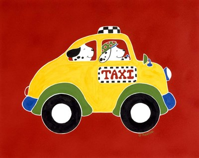 Taxi! art print by Shelly Rasche for $68.75 CAD