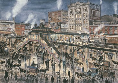Greely Square, N. Y. C.  , c.1896 art print by Stanton Manolakas for $65.00 CAD