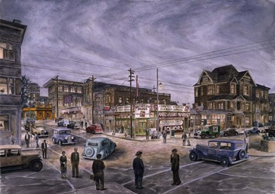A Night On Bunker Hill art print by Stanton Manolakas for $65.00 CAD