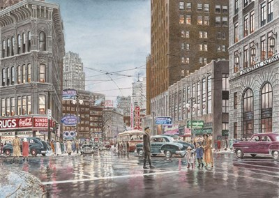 Crossing art print by Stanton Manolakas for $65.00 CAD