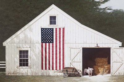 Barn With Piglet art print by Zhen-Huan Lu for $43.75 CAD