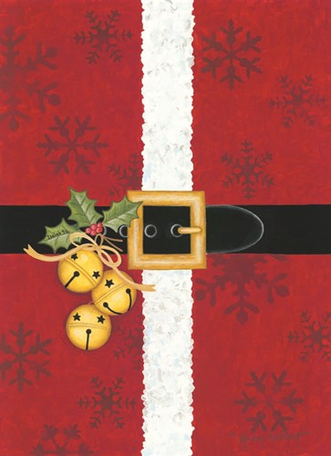 Jingle Bell Santa art print by Annie Lapoint for $42.50 CAD