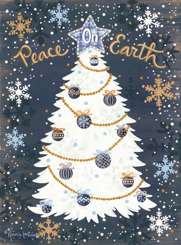 Snowy Christmas art print by Annie Lapoint for $41.25 CAD