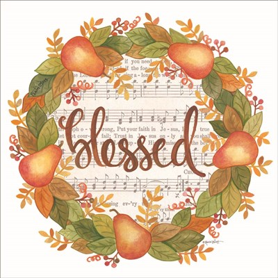 Blessed Wreath art print by Annie Lapoint for $35.00 CAD