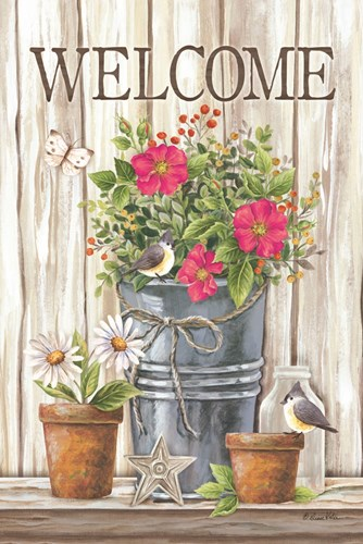 Welcome Spring Flowers art print by Diane Kater for $43.75 CAD