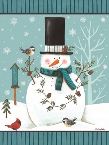 Top Hat Snowman art print by Diane Kater for $41.25 CAD