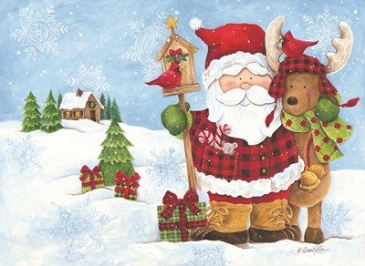 Lodge Santa art print by Diane Kater for $40.00 CAD