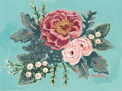 Peony Spring I art print by Sara Baker for $41.25 CAD