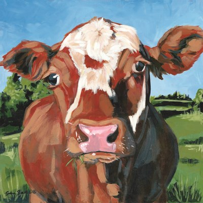 Henry the Hereford art print by Sara Baker for $35.00 CAD