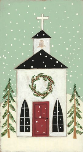 Church in the Snow art print by Bernadette Deming for $40.00 CAD
