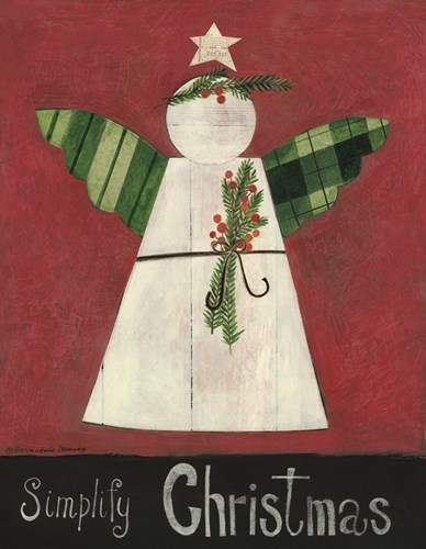Simplify Christmas Angel art print by Bernadette Deming for $48.75 CAD